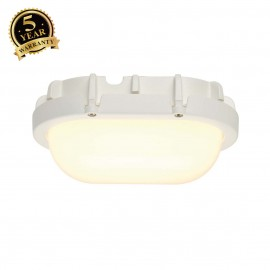 SLV 229921 TERANG wall and ceiling light,oval, white, 8W LED , 3000K,IP44