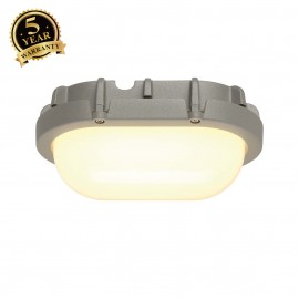 SLV 229924 TERANG wall and ceiling light,oval, silver, 8W LED, 3000K,IP44