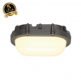 SLV 229925 TERANG wall and ceiling light,oval, anthracite, 8W LED,3000K, IP44