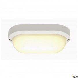 SLV 229931 TERANG 2 wall and ceilinglight, oval, white, 11W LED,3000K, IP44