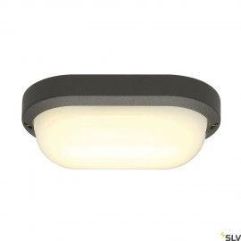 SLV 229935 TERANG 2 wall and ceilinglight, oval, anthracite, 11WLED, 3000K, IP44