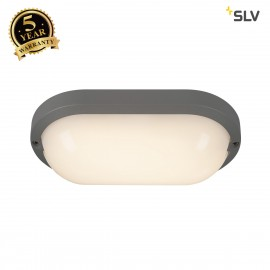 SLV 229955 TERANG 2 XL SENSOR, wall andceiling light, oval,anthracite, 3000K, IP44