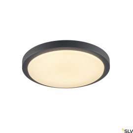 SLV 229975 AINOS, ceiling light, LED, 3000K, round, anthracite, with sensor