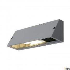 SLV 230034 PEMA SQUARE wall light,silver-grey, E27, max. 15W