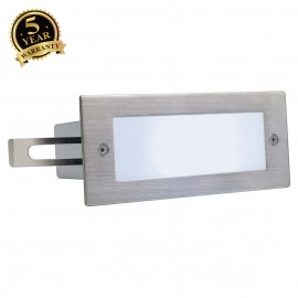SLV 230231 BRICK LED 16 STAINLESS STEEL304 recessed wall light,brushed, 1W, 5700K, IP44