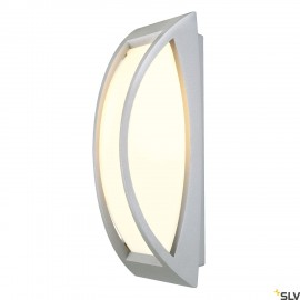 SLV 230444 MERIDIAN 2 wall and ceilinglight, silver-grey, E27 EnergySaver, max. 25W, IP54