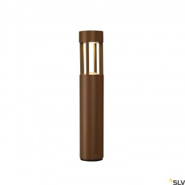 SLV 231817 SLOTS 45 bollard, rust, 6.3WCOB LED, 3000K, IP44