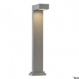 SLV 232294 QUADRASYL SL 75 path light,square, silver-grey, GX53,max. 11W, IP44