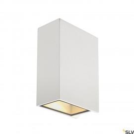 SLV 232441 QUAD 2 XL wall light, square,white, 2x 3.2W COB LED, 3000K,IP44, up/down