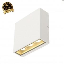 SLV 232451 BIG QUAD wall light, squareshape, white, 6x 1W LED, 3000K, IP54