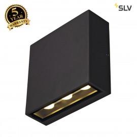 SLV 232455 BIG QUAD wall light, squareshape, anthracite, 6x 1W LED,3000K, IP54