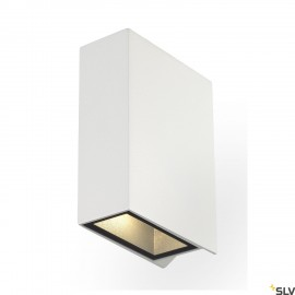 SLV 232471 QUAD 2 wall light, square,white, LED, 2x3W, 3000K,up-down, IP44