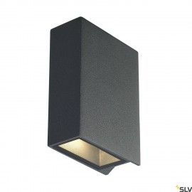 SLV 232475 QUAD 2 wall light, square,anthracite, LED, 2x3W, 3000K,up-down, IP44