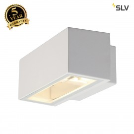 SLV 232481 BOX R7s wall light, square,white, R7s, max. 80W, up-down,IP44
