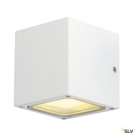 SLV 232531 SITRA CUBE wall light, white,GX53, max. 9W, IP44