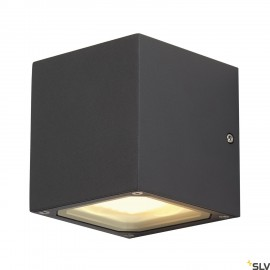 SLV 232535 SITRA CUBE wall light,anthracite, GX53, max. 9W,IP44