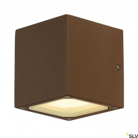 SLV 232537 SITRA CUBE wall light, rust,GX53, max. 9W, IP44