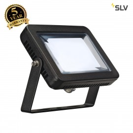 SLV 232810 SPOODI floodlight, square, 10W, black, 4000K LED