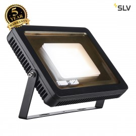 SLV 232840 SPOODI floodlight, square, 60W, black, 3000K LED