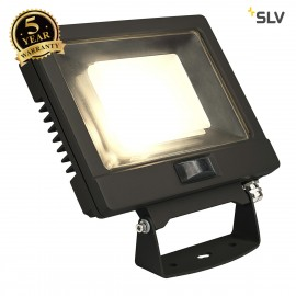 SLV 232880 SPOODI SENSOR, LED Outdoor surface-mounted wall light, 30W, black, 3000K