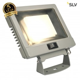 SLV 232884 SPOODI SENSOR, LED Outdoor surface-mounted wall light, 30W, silver-grey, 3000K