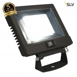 SLV 232890 SPOODI SENSOR, LED Outdoor surface-mounted wall light, 30W, black, 4000K