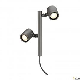 SLV 233185 NEW MYRA 2 lamp head,anthracite, 2x GU10, max. 2x4W, IP44