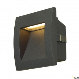 SLV 233605 DOWNUNDER OUT LED S recessedwall light, anthracite, SMDLED 3000K, IP55