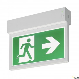 SLV 240000 P-LIGHT Emergency Exit signsmall ceiling/wall, white