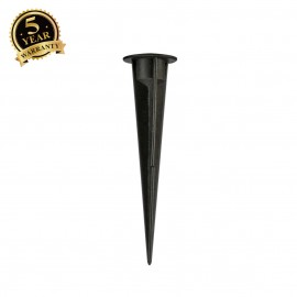 SLV 900011 PLASTIC EARTH SPIKE, black, length 17.5cm