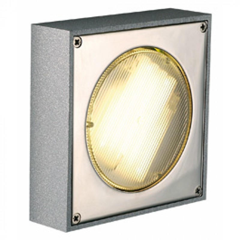 SLV 111131 Quadrasyl D 9W Silver Grey Outdoor Ceiling & Wall Light