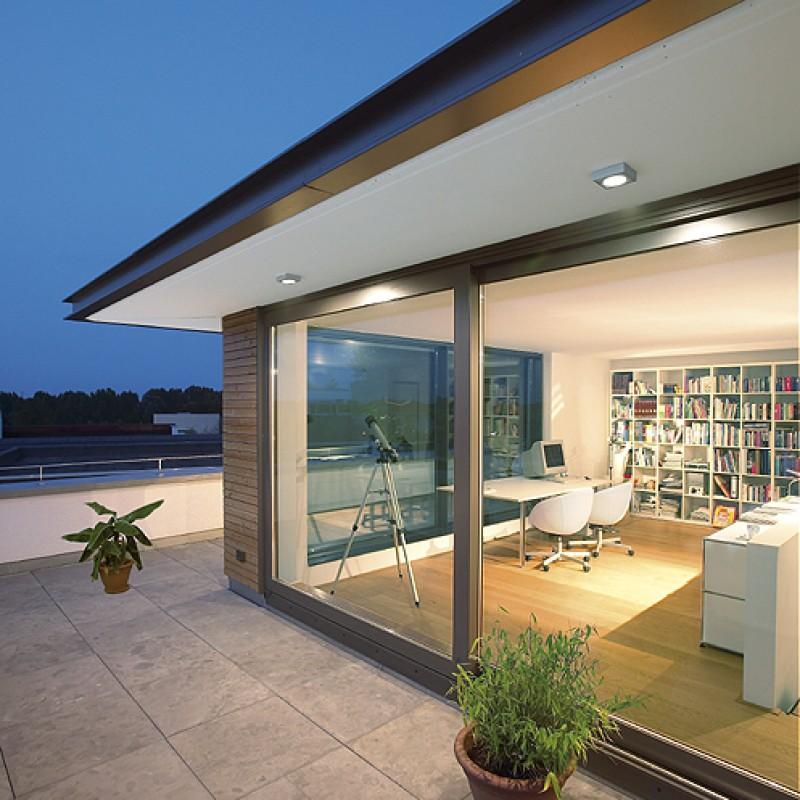 Commercial Lighting Co: SLV 111131 Quadrasyl D 9W Silver Grey Outdoor Ceiling