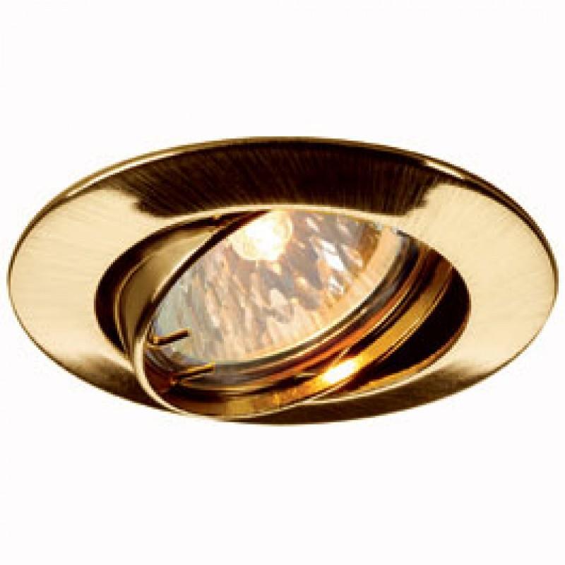 SLV 111173 Pika Adjustable 50W Brass Downlight