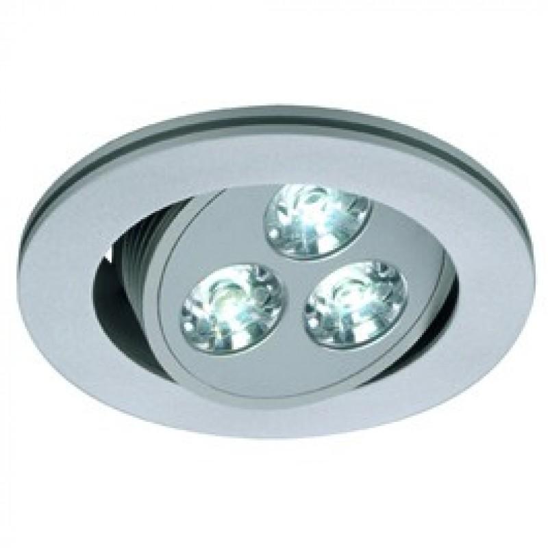 SLV 111854 Triton 3 LED 3W 4000K Silver Grey Downlight