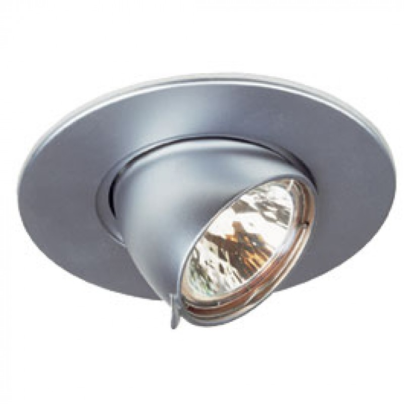SLV 112157 Gimble Round MR16 50W Matt Chrome Downlight