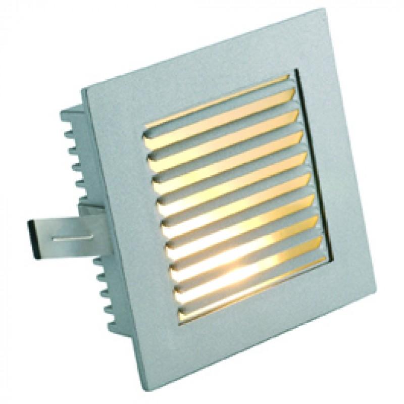 SLV 112762 Flat Frame Slat 20W Silver Grey Guide Light