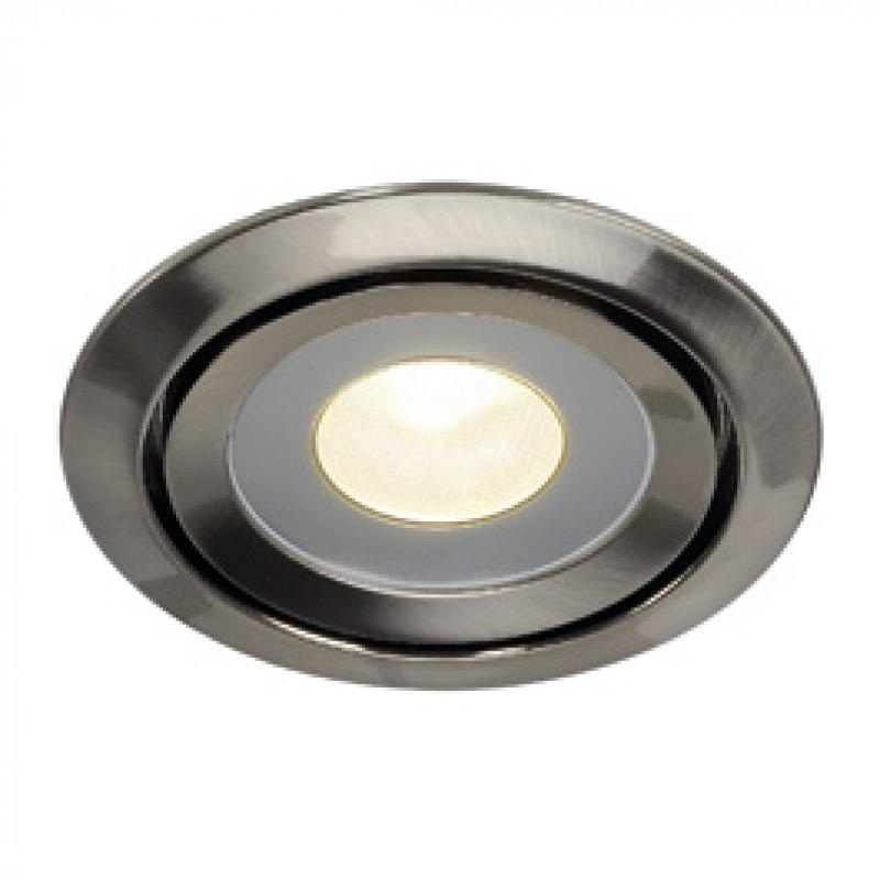 SLV 115805 Luzo LED Disk 12W 2700K Brushed Metal Downlight
