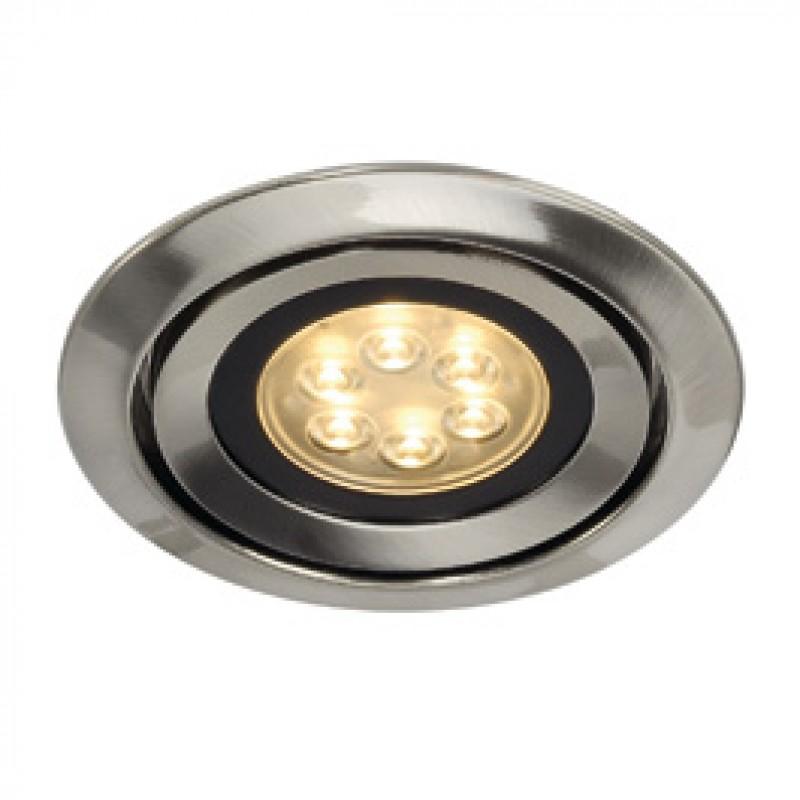SLV 115825 Luzo Integrated LED 13W 2700K Brushed Metal Downlight