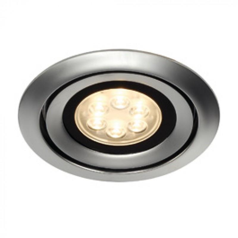 SLV 115838 Luzo Integrated LED 13W 3000K Matt Chrome Downlight