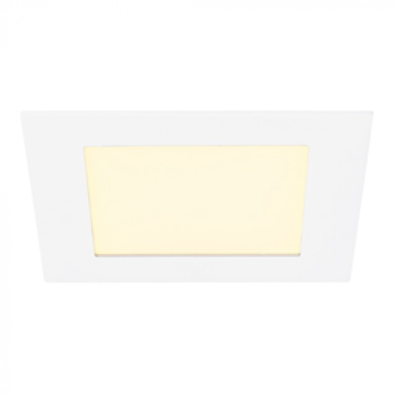 SLV 162521 Eco LED Panel Square 12W 3000K White Downlight