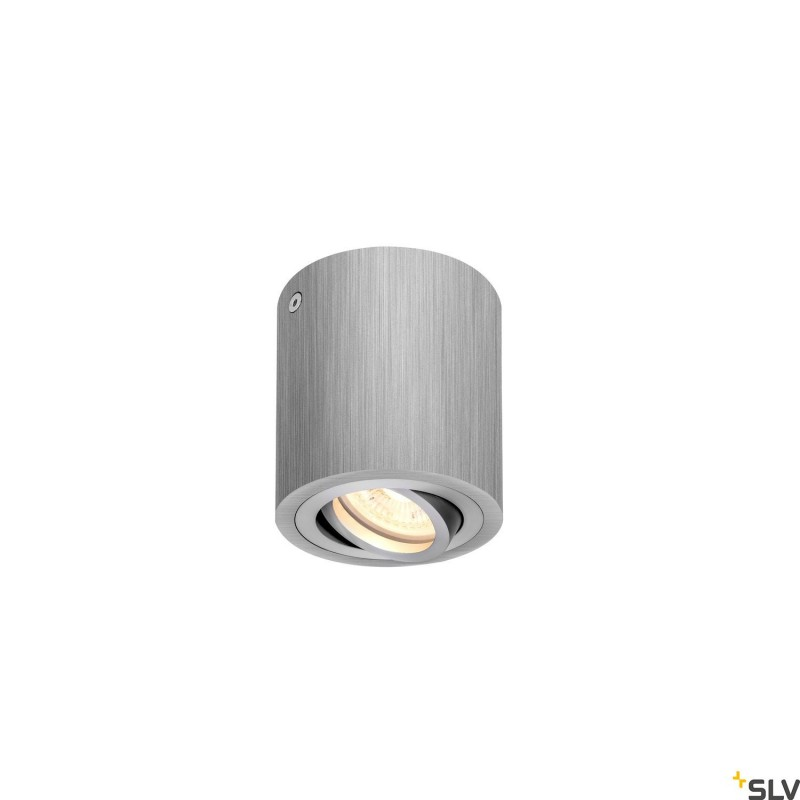 Intalite 1002012I TRILEDO CL, indoor surface-mounted ceiling light, QPAR51, brushed aluminium, max 10W