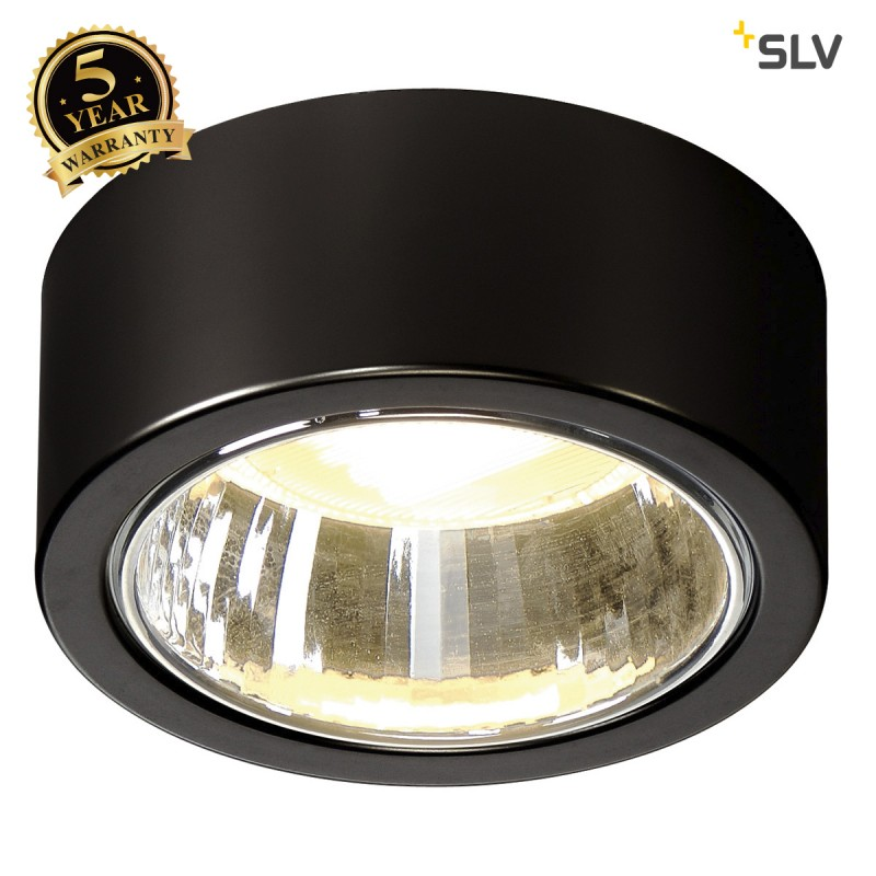Intalite 1002019I CL 101 TCR-TSE, Indoor surface-mounted ceiling light, black, max. 11W