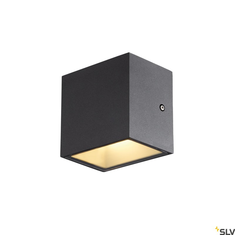 Intalite 1002032I SITRA CUBE WL, LED outdoor surface-mounted wall and ceiling light, anthracite, IP44, 3000K, 10W