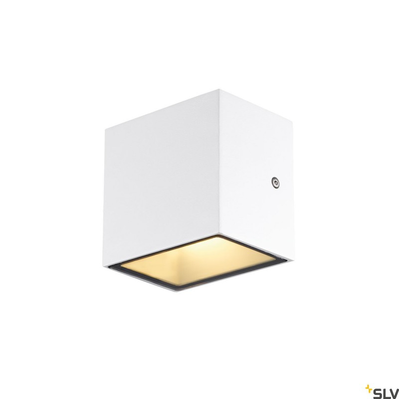 Intalite 1002033I SITRA CUBE WL, LED outdoor surface-mounted wall and ceiling light, white, IP44, 3000K, 10W
