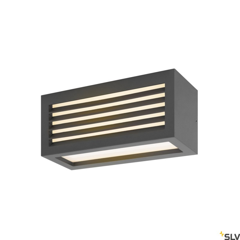 Intalite 1002035I BOX_L, LED outdoor surface-mounted wall and ceiling light, anthracite, IP44, 3000K, 19W