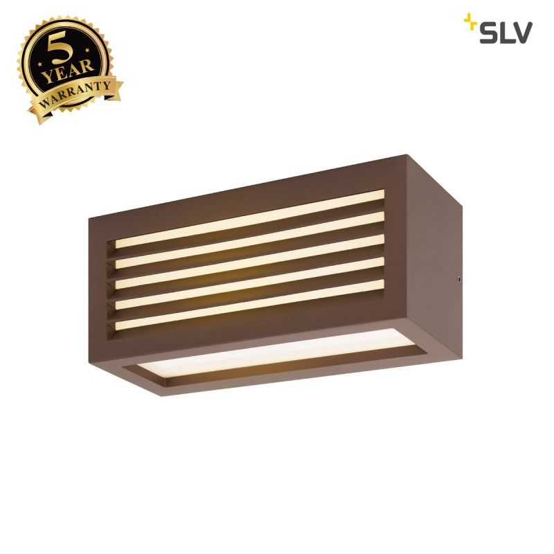 Intalite 1002036I BOX_L, LED outdoor surface-mounted wall and ceiling light, rust coloured, IP44, 3000K, 19W