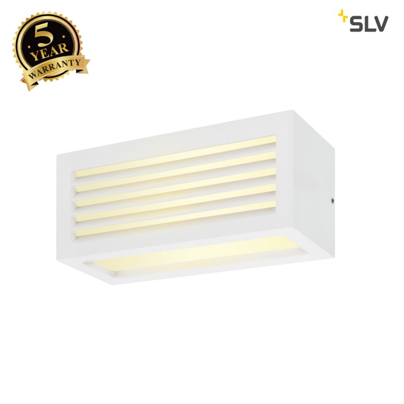 Intalite 1002037I BOX_L, LED outdoor surface-mounted wall and ceiling light, white, IP44, 3000K, 19W