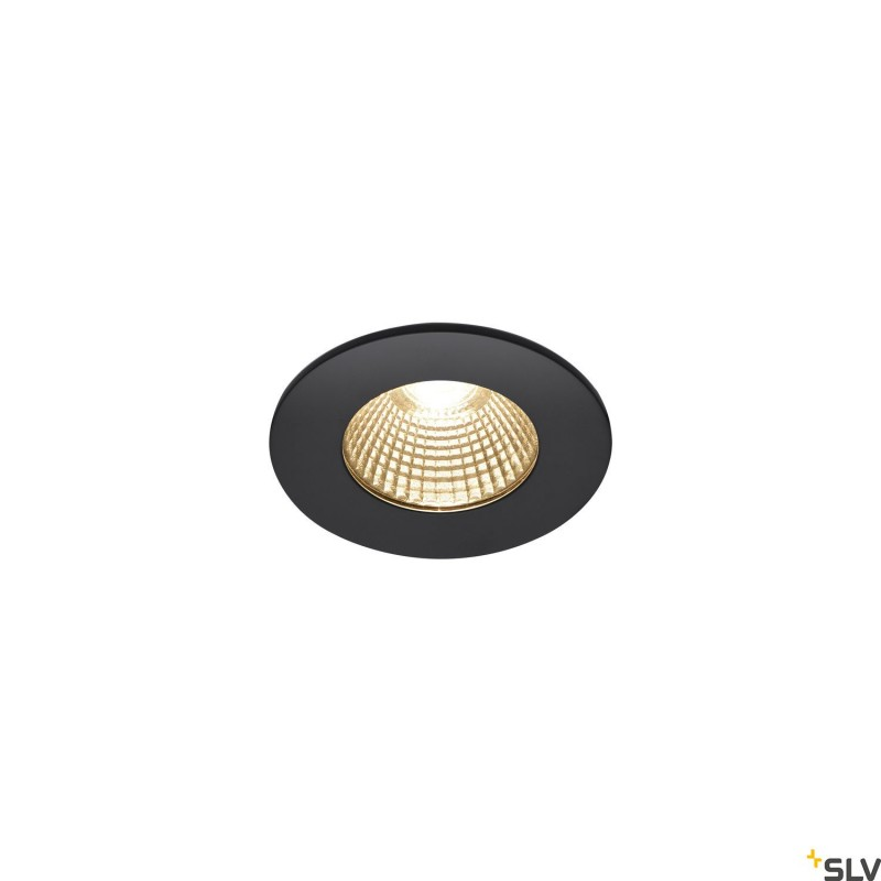 Intalite 1002098I PATTA-I, LED outdoor recessed ceiling light, round DL IP65 black 1800-3000K