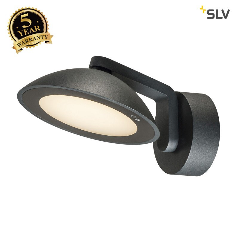 Intalite 1002155I MALU WL, LED Outdoor surface-mounted wall light, anthracite, IP55, 3000K
