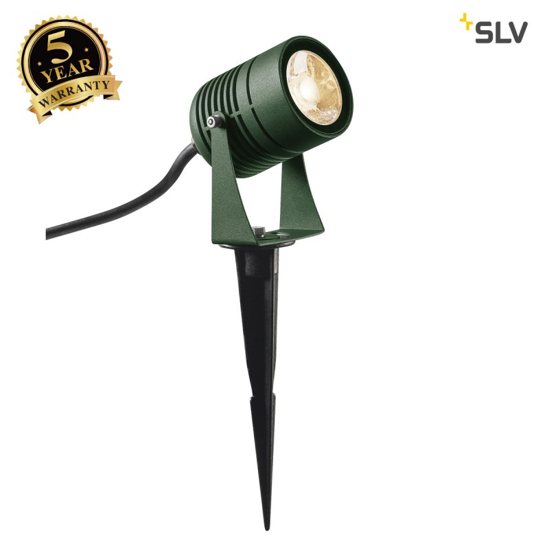 Intalite 1002202I LED SPIKE, LED outdoor ground spike luminaire, green, IP55, 3000K, 40°